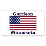 Garrison US Flag Sticker (Rectangle)