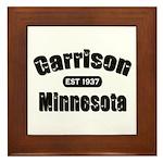 Garrison Established 1937 Framed Tile