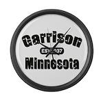 Garrison Established 1937 Large Wall Clock