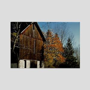 Brown Barn Rectangle Magnet