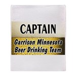 Garrison Beer Drinking Team Throw Blanket