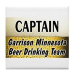 Garrison Beer Drinking Team Tile Coaster