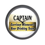 Garrison Beer Drinking Team Wall Clock