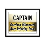 Garrison Beer Drinking Team Framed Panel Print