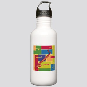 Bass Clarinet Colorblocks Stainless Water Bottle 1