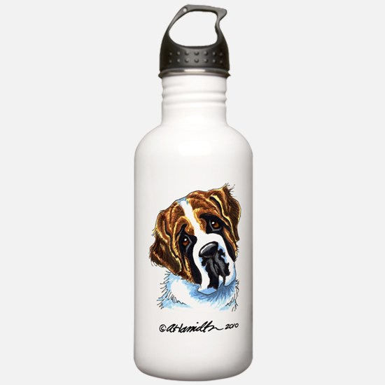 Saint Bernard Portrait Water Bottle