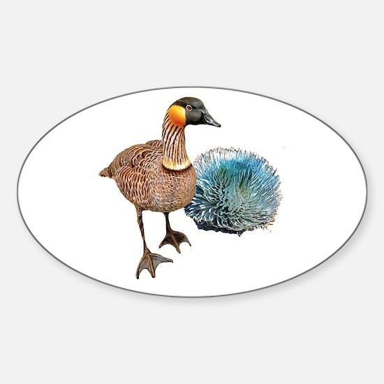 Hawaiian Islands NeNe - Sticker (Oval)
