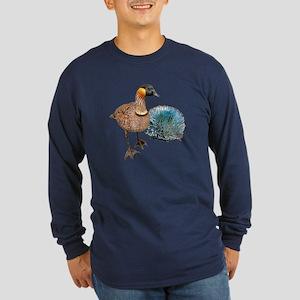 Hawaiian Islands NeNe - Long Sleeve Dark T-Shirt