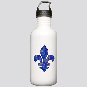 Blue Mosaic Fleur Stainless Water Bottle 1.0L