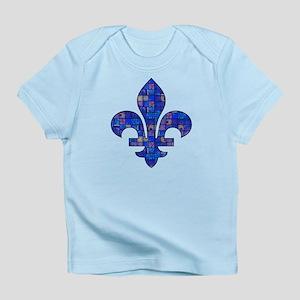Blue Mosaic Fleur Infant T-Shirt