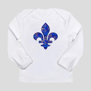 Blue Mosaic Fleur Long Sleeve Infant T-Shirt
