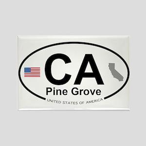 Pine Grove Rectangle Magnet