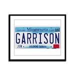 Garrison License Plate Framed Panel Print