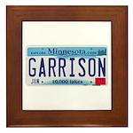 Garrison License Plate Framed Tile