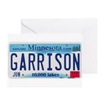 Garrison License Plate Greeting Cards (Pk of 20)