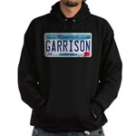 Garrison License Plate Hoodie (dark)