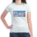 Garrison License Plate Jr. Ringer T-Shirt