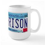 Garrison License Plate Large Mug