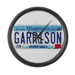 Garrison License Plate Large Wall Clock