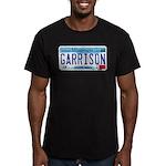 Garrison License Plate Men's Fitted T-Shirt (dark)