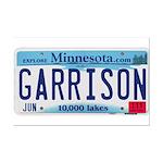 Garrison License Plate Mini Poster Print