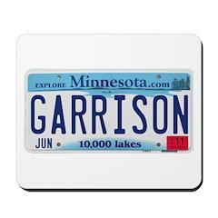 Garrison License Plate Mousepad