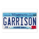 Garrison License Plate Postcards (Package of 8)