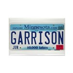 Garrison License Plate Rectangle Magnet
