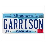 Garrison License Plate Small Poster