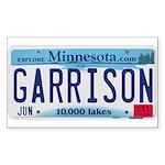 Garrison License Plate Sticker (Rectangle 10 pk)
