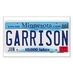 Garrison License Plate Sticker (Rectangle)