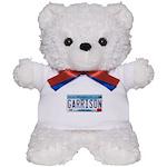 Garrison License Plate Teddy Bear