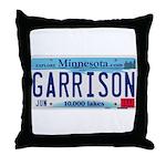 Garrison License Plate Throw Pillow