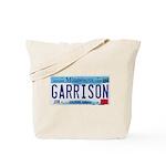 Garrison License Plate Tote Bag