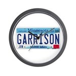 Garrison License Plate Wall Clock
