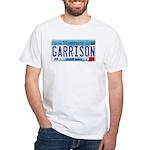 Garrison License Plate White T-Shirt