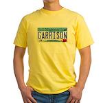 Garrison License Plate Yellow T-Shirt