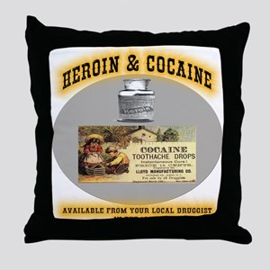 Cocaine & Heroin Throw Pillow