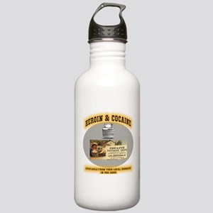 Cocaine & Heroin Stainless Water Bottle 1.0L
