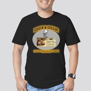 Cocaine & Heroin Men's Fitted T-Shirt (dark)