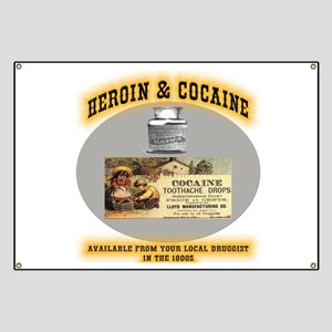 Cocaine & Heroin Banner