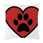 always in my heart Woven Throw Pillow