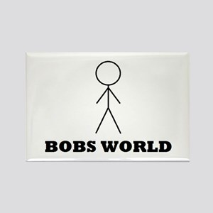 Bobs world Rectangle Magnet