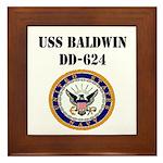 USS BALDWIN Framed Tile