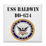 USS BALDWIN Tile Coaster