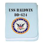 USS BALDWIN baby blanket