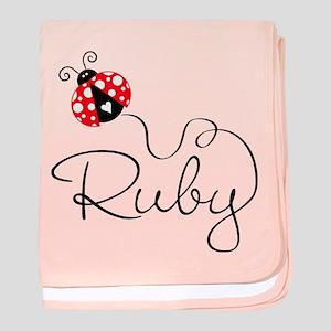 Ladybug Ruby baby blanket