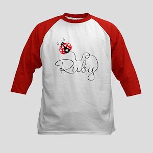 Ladybug Ruby Kids Baseball Jersey