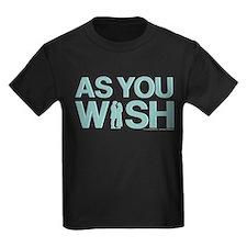 As You Wish Princess Bride Kids Dark T-Shirt