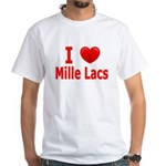 I Love Mille Lacs White T-Shirt